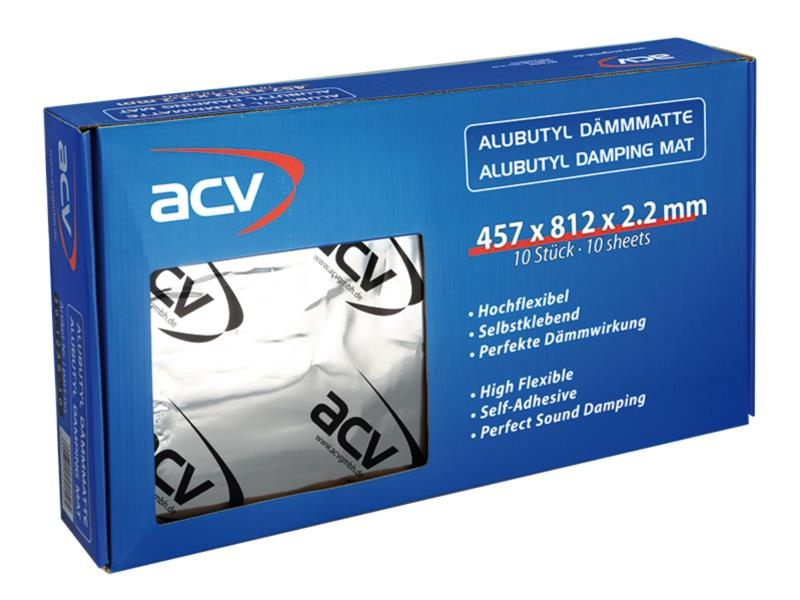 ACV Alu Butyl Dämmmatte (457 x 812 x 2.2 mm ) 10 Stück